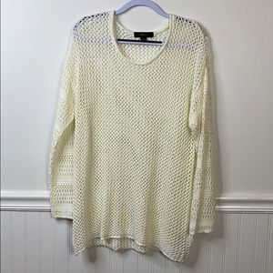 Forever 21 Cream Knitted Oversized Sweater